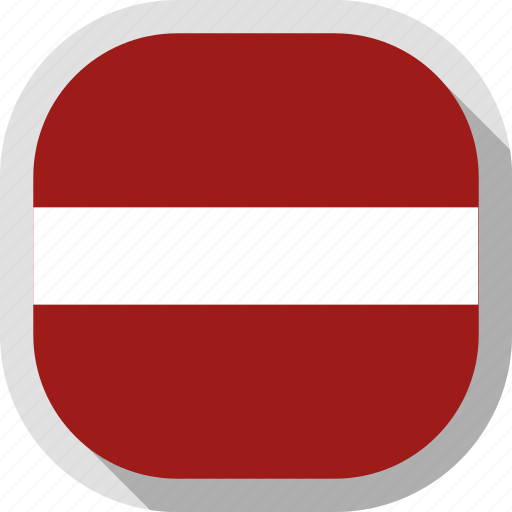 circle, country, flag, latvia, rounded, square icon