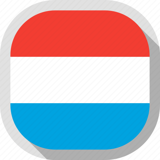 circle, country, flag, luxembourg, rounded, square icon
