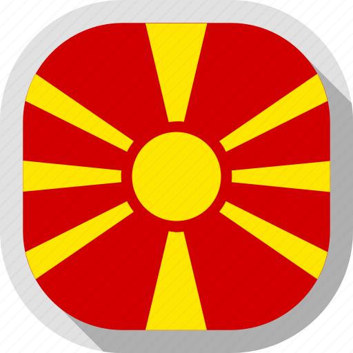 circle, country, flag, macedonia, rounded, square icon