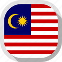country, circle, malasia, flag, square, rounded