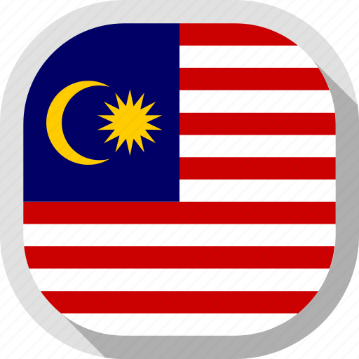 circle, country, flag, malasia, rounded, square icon