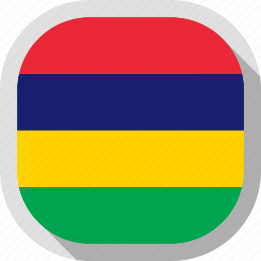 circle, country, flag, mauritius, rounded, square icon