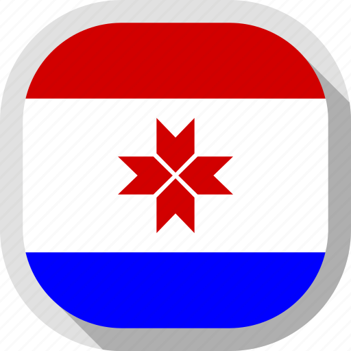 circle, country, flag, mordovia, rounded, square icon