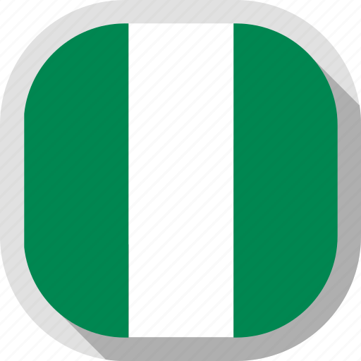 circle, country, flag, nigeria, rounded, square icon