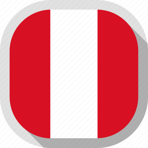 circle, country, flag, peru, rounded, square icon