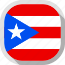 circle, country, flag, puerto rico, rounded, square icon