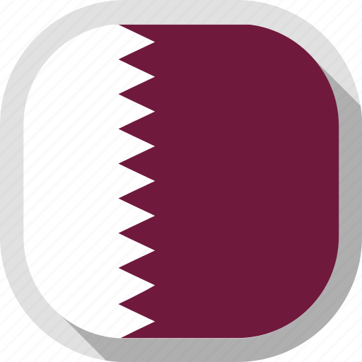 circle, country, flag, qatar, rounded, square icon