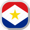 circle, country, flag, rounded, saba, square icon