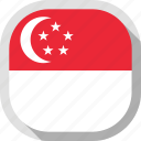circle, country, flag, rounded, singapore, square icon