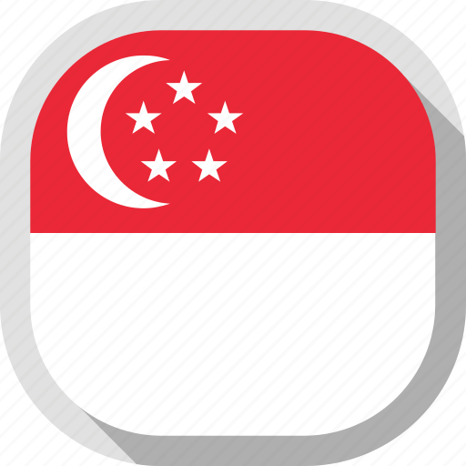 Circle, country, flag, singapore, rounded, square icon - Download on Iconfinder
