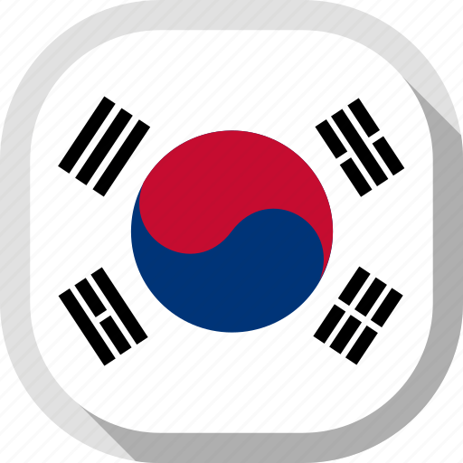 circle, country, flag, rounded, south korea, square icon