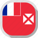 circle, country, flag, rounded, square, wallis and futuna icon