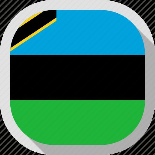 circle, country, flag, rounded, square, zanzibar icon