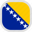 and, bosnia, flag, herzegovina, world