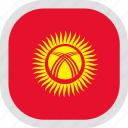 flag, kyrgyzstan, world