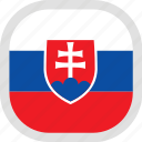 flag, slovakia, world icon