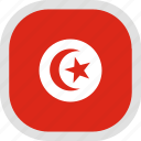 flag, tunisia, world