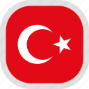flag, turkey, world icon