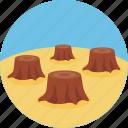 global, warming, logging, deforestation icon