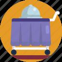 hotel, food, meal, trolley, restaurant, serve