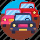 cars, map, navigation, traffic icon