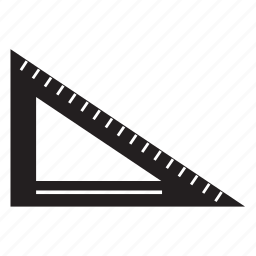architect, measure, ruler, shape, tool, triangle icon