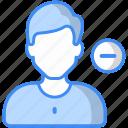 remove friend, unfriend, unsubscribe, delete, unfollow, block, cancel icon