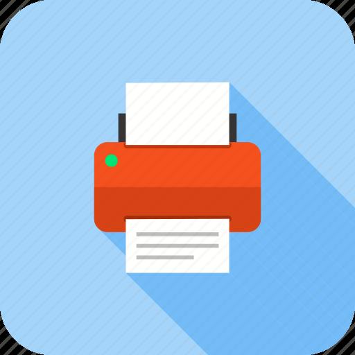 device, print, printer, printing, printing machine, technology icon