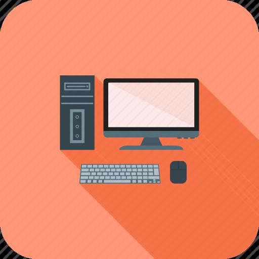 computer, desktop, device, display, pc, technology icon