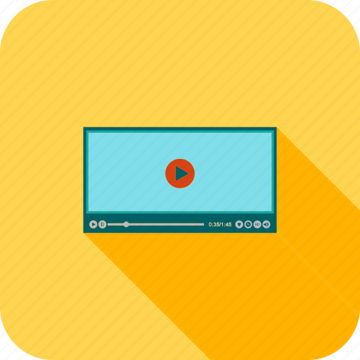 multimedia, music, play, player, screen, video icon