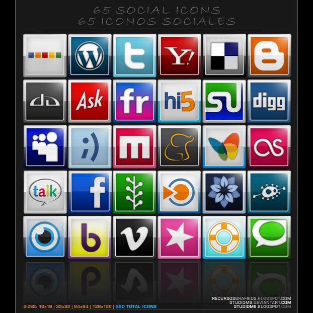 65socialiconsbystudiom6 icon