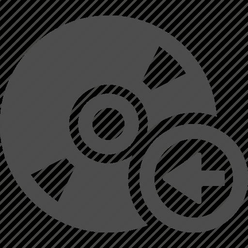 arrow, bluray, button, cd, disk, dvd, multimedia icon