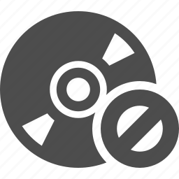 cd, denied, disk, dvd, forbidden, multimedia, restricted icon