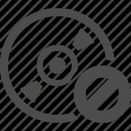 cds, denied, disk, dvds, forbidden, restricted icon