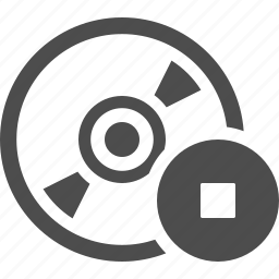 button, cd, disk, dvd, record, stop icon
