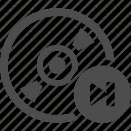 button, cd, disk, dvd, multimedia, skip icon