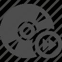 cd, disk, dvd, fast forward, storage icon