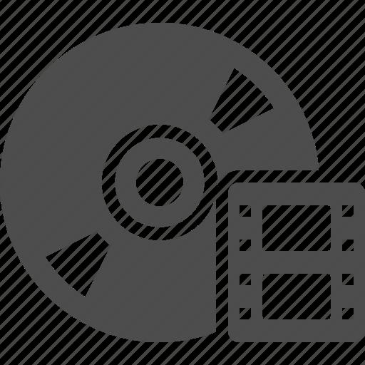 cd, disk, dvd, film, movie, multimedia, reel, video icon