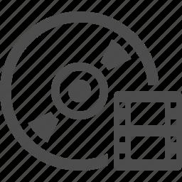 bluray, cd, disk, dvd, movie, video icon