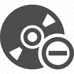 button, cd, disk, dvd, dvds, minus, multimedia icon