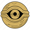 eye, eyeball, millennium eye, millennium items, yugioh icon