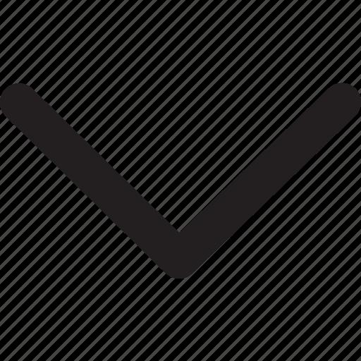 arrow, direction, down, down arrow, navigation, pointer icon
