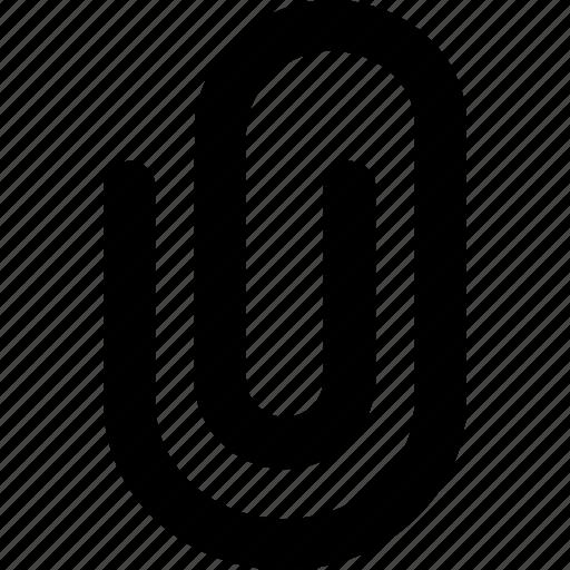 attach, attached, attachment, clip, document, file, paperclip icon
