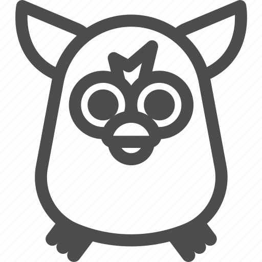 doll, electronic, furby, robot, toy icon