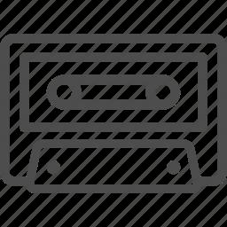 cassette, music, radio, retro, tape icon