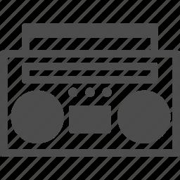 boombox, cassette, dance, music, radio, retro, transistorized icon