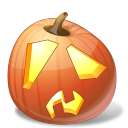 halloween, jack o lantern, pumpkin, shock icon