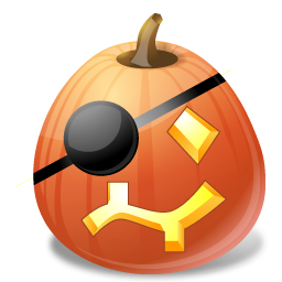 halloween, jack o lantern, pirate, pumpkin icon