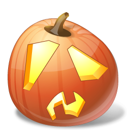 halloween, jack o lantern, pumpkin, shock icon