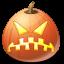 angry, halloween, jack o lantern, pumpkin icon